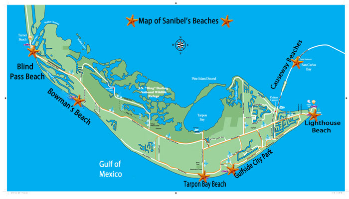 Location Of Beaches On Sanibel Island